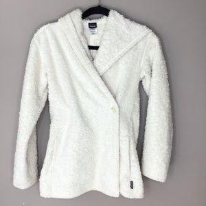 Patagonia los gato fuzzy wrap across jacket